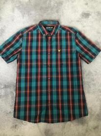 Men's Lyle and Scott short sleeve tartan check shirt medium