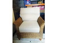 Mint condition wicker chair. conservatory,bedroom,lounge