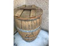 Large oak water barrel