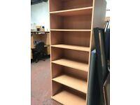 Tall Beech Book Case & Shelves