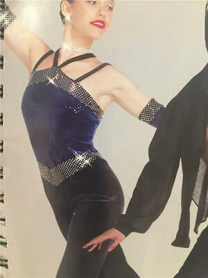 Dance Costume Tap Jazz Medium Child Skate Pageant Jumpsuit Art Stone Bombshell for sale  Shipping to India