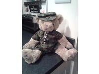 Build-a-Bear, Rare 'Centenary Edition Bear' - Army Teddy Bear with box