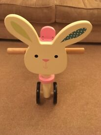 Mothercare wooden bunny trike ride on