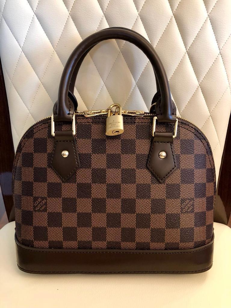 cff2a7ed2e78 Louis Vuitton Alma BB Damier Ébène leather bag