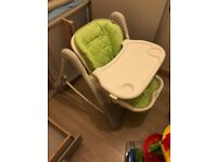 HighChair Happy Baby William Green Lime