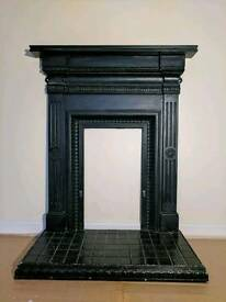 Cast-iron fireplace surround