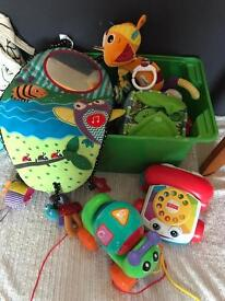 Mixed bundle of baby toys