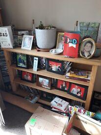 Solid oak DVD/Bookcase