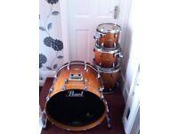 Pearl Masterworks Drums.