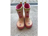 Girls pink peppa pig wellies