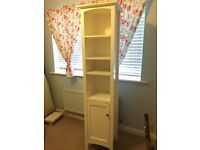 Slimline Tall boy White Bathroom Cabinet. Hardly used, excellent condition
