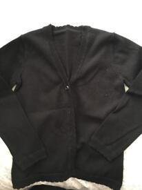 3 black school cardigans 6-7 yrs old
