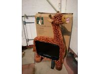 "19"" LCD Giraffe TV with remote control"