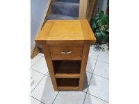 Small Solid Wooden Cabinet Telephone Table Oak Colour