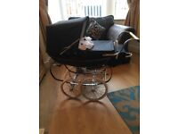 Gorgeous child's Silver Cross coach pram hardly used very good condition lovely toy
