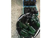 Job lot of 500ml beer bottles / home brewing bottles / sterilised