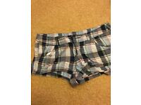 H&M size 8/10 check shorts