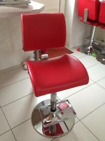 RED LEATHER STOOLS