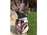 Ladies golf mizuno golf clubs 5 to sand wedge ,benross driver,3 & 5 woods putter ,power cady bag