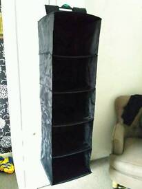 IKEA black storage compartments for cupboard with 2 boxes