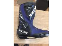 TCX S-race motorcycle Boots UK size 8