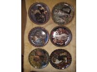 Collectible cats Around the World plates x 6