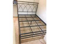 Metal frame double bed