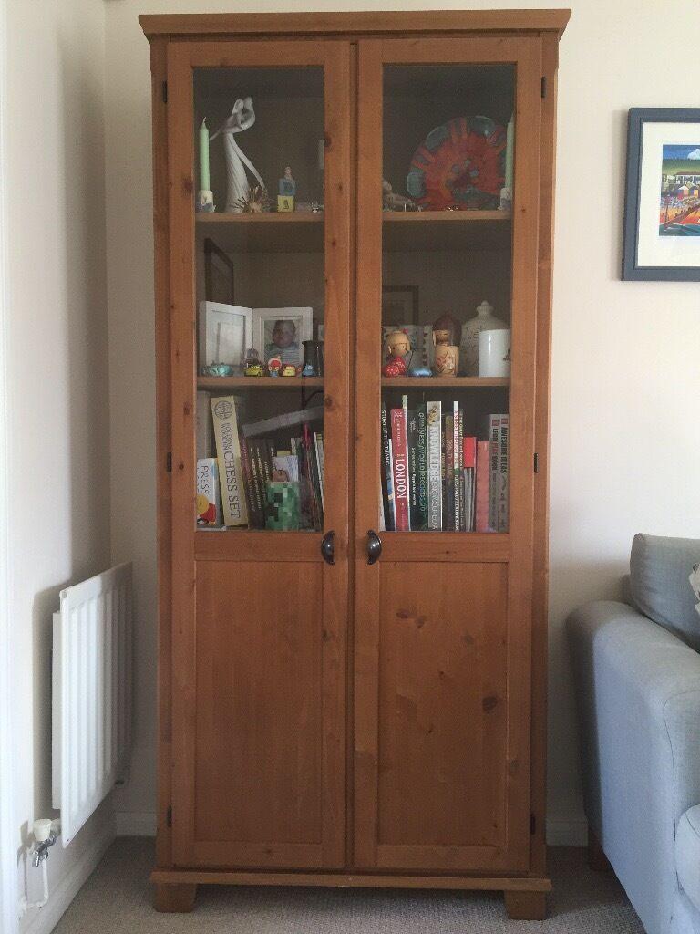 Ikea Leksvik Bookcasecabinet With Glass Doors In Norwich Norfolk