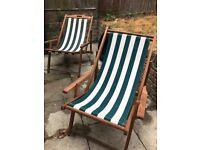 Folding Garden Chairs x2.