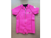 Two Bare Feet Classic Baby Wetsuit (Pink), XS (6-12 months)
