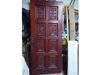 front door mahogany