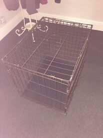 Dogs Crate with Plastic Tray