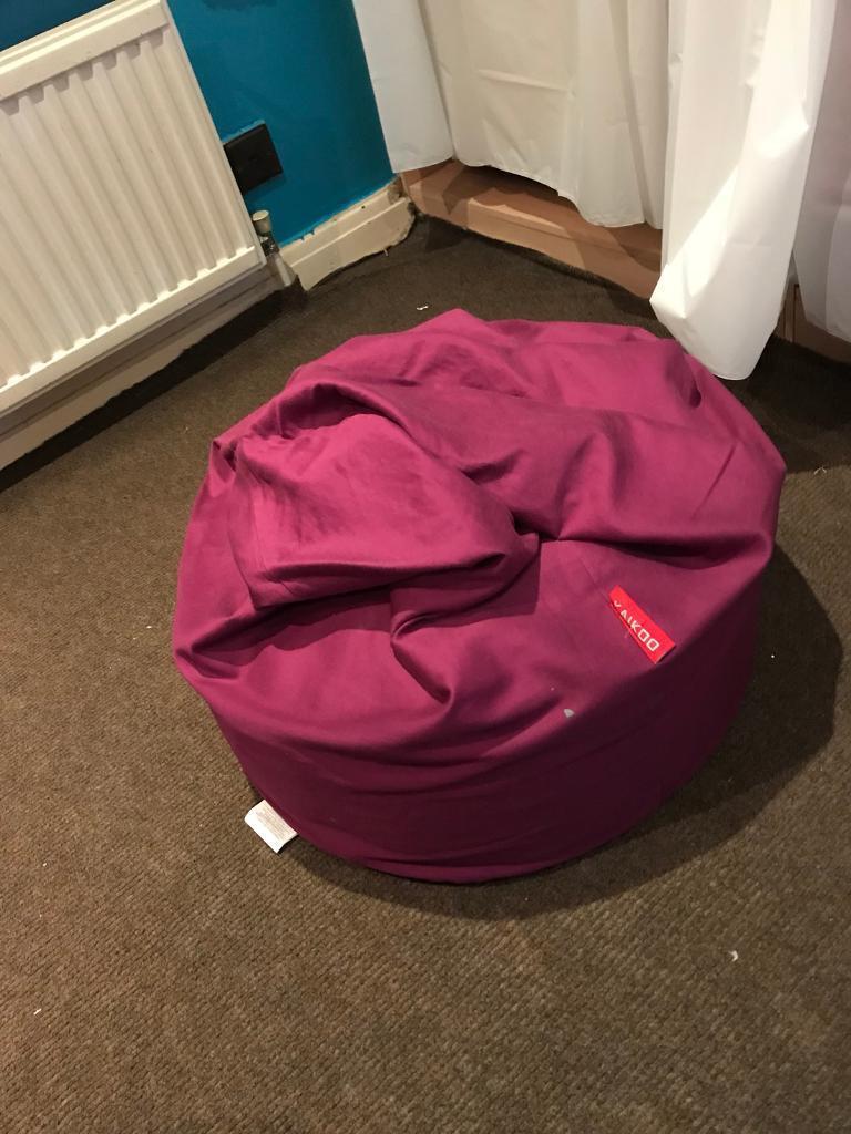 Two Purple Bean Bags
