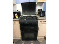 Black indesit gas oven