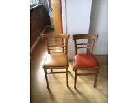 2 Wooden Dining Chairs