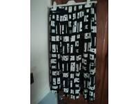 Pattern black skirt worn twice size 14