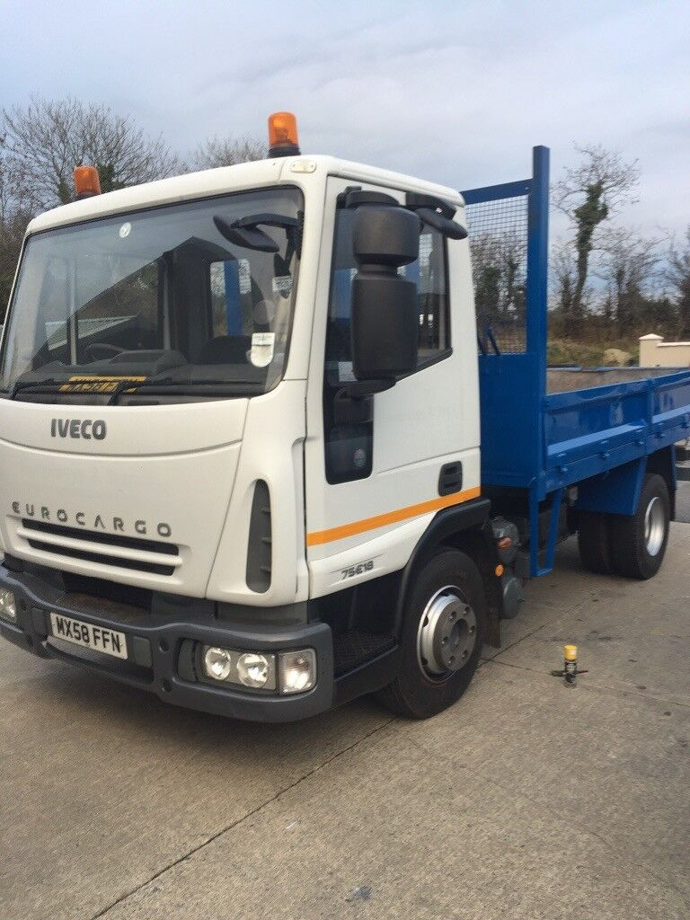 Man 8-180 Tip 7.5 tonne and iveco very 12 months test, very clean