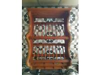 Gorgeous vintage penny pine plate rack