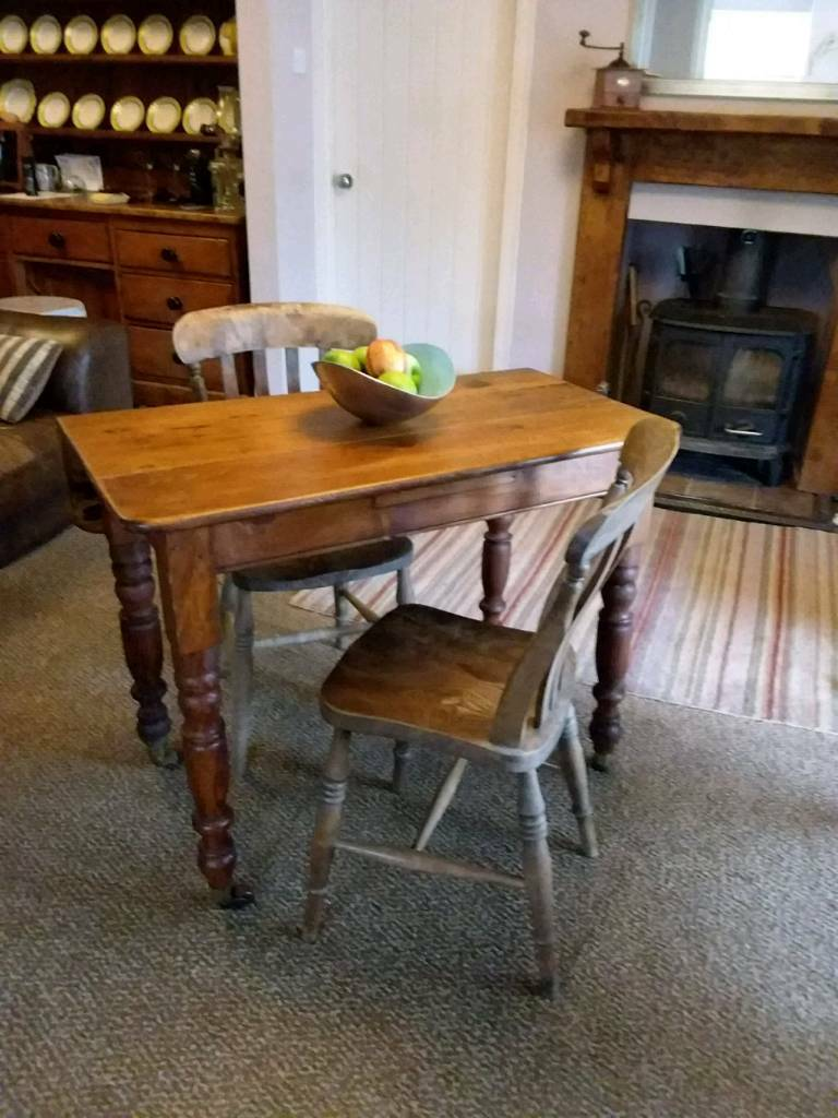 Antique pine table and two chairs - Antique Pine Table And Two Chairs In Ipplepen, Devon Gumtree