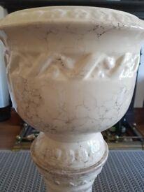 Porcelain Marble Effect Pillar Planter/Plant Pot