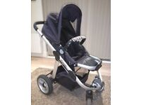 Icandy Apple 2 pear pushchair and carrycot.