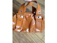Tan leather Tula handbag