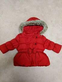 Girls NEXT coat 6-9months