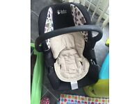 Baby car seat with newborn padded seat