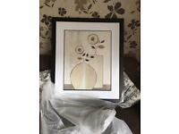 Large picture dark wood frame