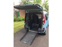 Wheelchair Accessible Vehicle (WAV) with Motorised rotating front passenger seat
