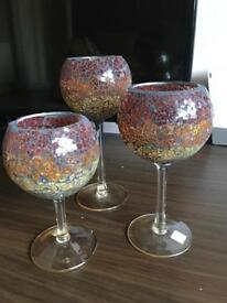 3 x Partylite tea-light candle holders