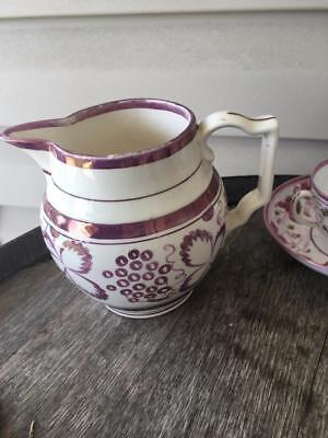 Grays Pottery Pink Lustre Milk Jug Pitcher c.1930's EUC Made England