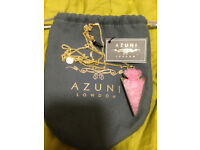 NEW Azuni London Geode Quartz Necklace, Original Tags
