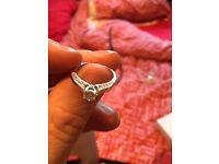 8ct White Gold 2/5 Carat Diamond Ring Size J